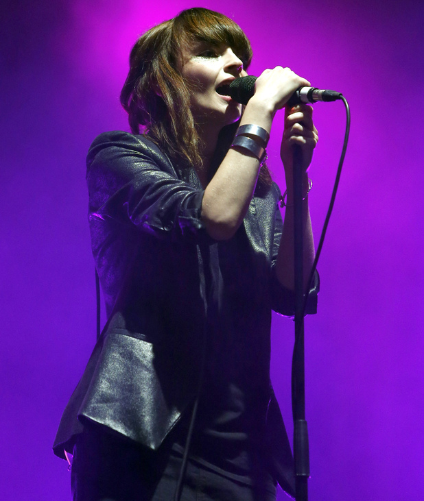Lauren Mayberry of Chvrches performs on Day 2 of the Reading Festival