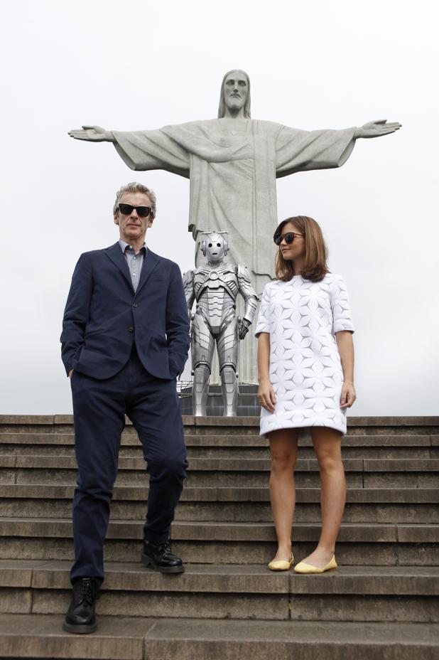 Peter Capaldi, Jenna Coleman on Doctor Who world tour, Rio de Janeiro