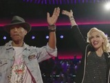 Gwen Stefani and Pharrell Williams in The Voice