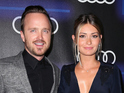LOS ANGELES, CA - AUGUST 21: Actor Aaron Paul (L) and Lauren Parsekian attend the Audi celebration of Emmys Week 2014 at Cecconi's Restaurant on August 21, 2014 in Los Angeles, California. (Photo by David Livingston/Getty Images)