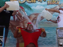 The Immortal Hulk Hogan does the Ice Bucket Challenge in his own style.