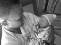 Eric Ladin and his wife Katy welcomed a baby boy, Stormy Lee, on August 12.