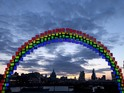 The Midnight Rainbow installation is made from 150 Galaxy Tab S slates.
