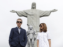 Peter Capaldi, Jenna Coleman and Steven Moffat complete their series 8 world tour.