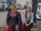The Man of Steel actor has a total of six loads of cold water poured over him.