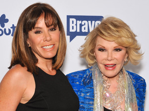 Joan Rivers and daughter Melissa Rivers attend the 2014 NBCUniversal Cable Entertainment Upfronts