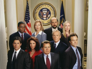 The cast of The West Wing