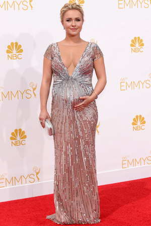 LOS ANGELES, CA - AUGUST 25: 66th ANNUAL PRIMETIME EMMY AWARDS -- Pictured: Actress Hayden Panettiere arrives to the 66th Annual Primetime Emmy Awards held at the Nokia Theater on August 25, 2014. (Photo by Kevork Djansezian/NBC/NBC via Getty Images)
