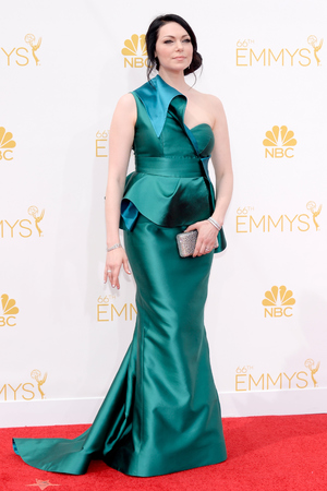 LOS ANGELES, CA - AUGUST 25: 66th ANNUAL PRIMETIME EMMY AWARDS -- Pictured: Actress  Laura Prepon arrives to the 66th Annual Primetime Emmy Awards held at the Nokia Theater on August 25, 2014. (Photo by Kevork Djansezian/NBC/NBC via Getty Images)