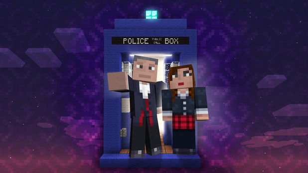 Doctor Who in Minecraft on Xbox 360