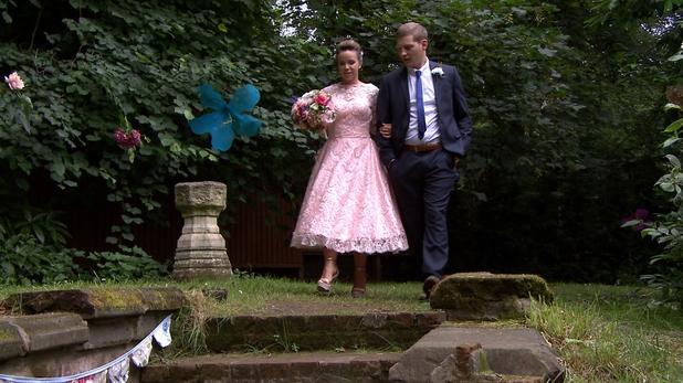John Paul gives Nancy away at the wedding