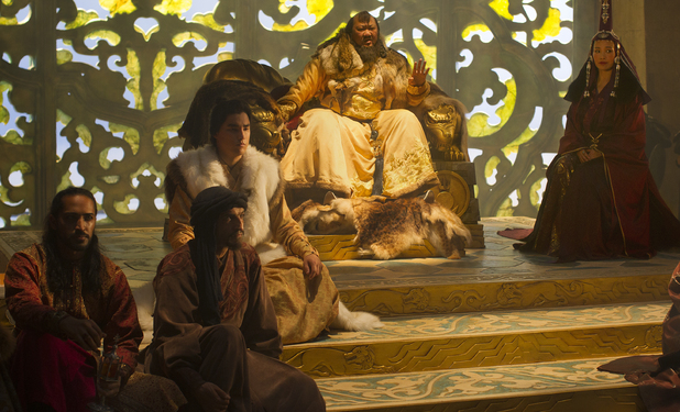 Mahesh Jadu, Amr Waked, Remy Hii, Benedict Wong and Joan Chen in Marco Polo