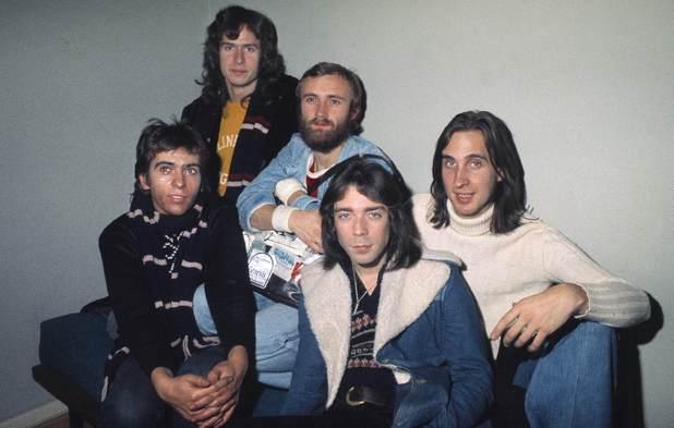 Peter Gabriel, Tony Banks, Phil Collins, Steve Hackett & Mike Rutherford of Genesis