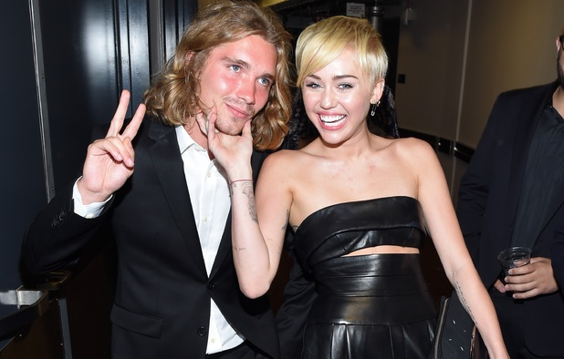 Miley Cyrus and friend Jesse at MTV VMAs