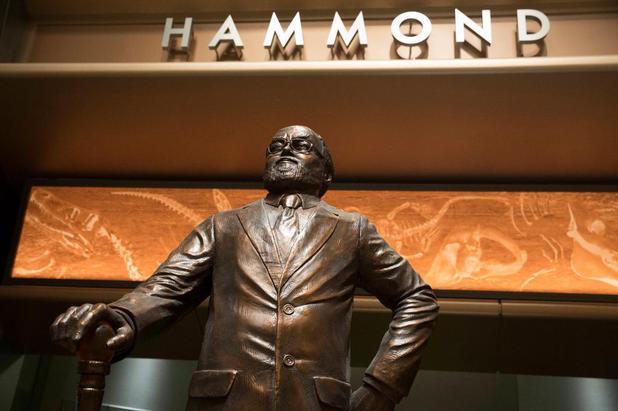 John Hammond Jurassic Park statue