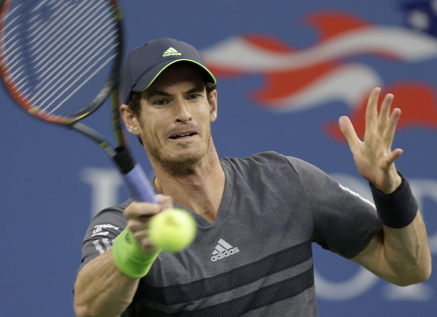 Andy Murray playing at the 2014 U.S. Open tournament