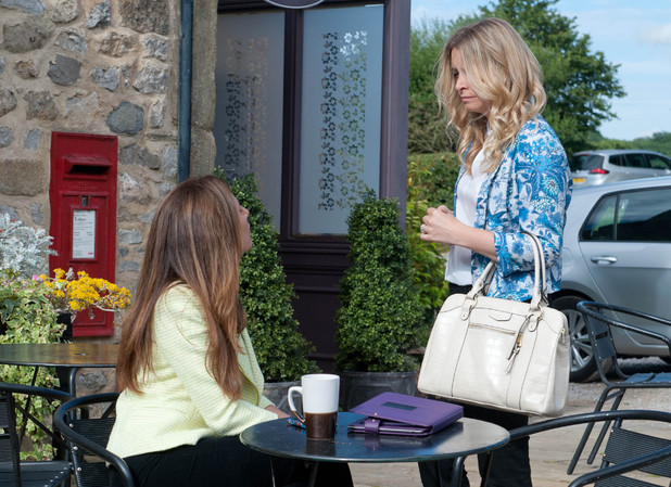 Charity is rattled when Megan informs her Declan has been asking questions and is having doubts.