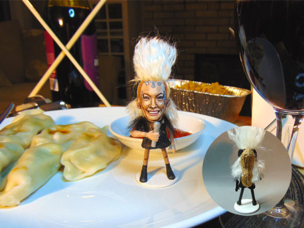 Steve Casino's X Factor peanut art: Kitty Brucknell