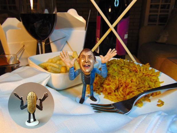 Steve Casino's X Factor peanut art: Robert Unwin