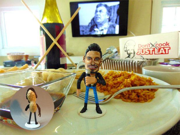 Steve Casino's X Factor peanut art: Rylan Clark