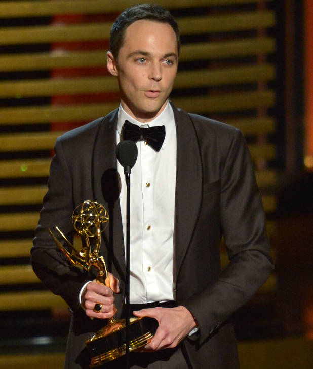 Jim Parsons speaks onstage at the 66th Annual Primetime Emmy Awards