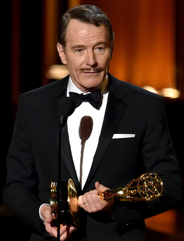 Bryan Cranston accepts Outstanding Lead Actor in a Drama Series for Breaking Bad onstage at the 66th Annual Primetime Emmy Awards