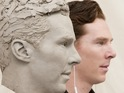 Madame Tussauds unveils clay head for Sherlock star.