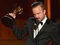 The actor thanks Breaking Bad co-star Bryan Cranston in his speech.