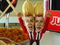 Infamous past X Factor stars such as Jedward and Wagner are rendered in miniature.