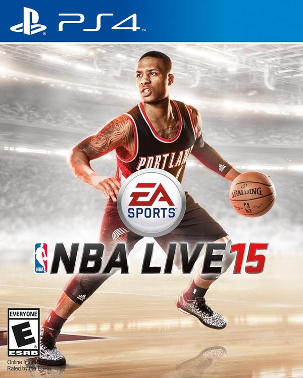 NBA Live 15 cover athlete Damian Lillard