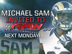 Openly gay American footballer Michael Sam invited to speak on WWE Raw