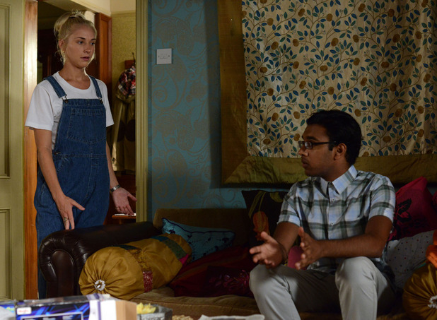 Tamwar tells Nancy to leave when she asks him about the fire