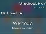 Madonna 'Unapologetic Bitch' in Siri.