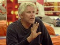 Gary Busey pulls down his trousers - revealing no underwear.