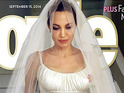 Angelina Jolie's wedding gown photo on the cover of People magazine