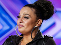 Contestant Monica Michael brings X Factor judge to tears in audition.
