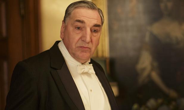 Jim Carter as Mr Carson in Downton Abbey series 5 premiere