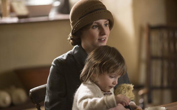 Laura Carmichael as Lady Edith Crawley in Downton Abbey series 5 premiere