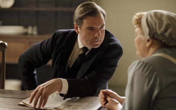 Brendan Coyle as John Bates & Lesley Nicol as Mrs Patmore in Downton Abbey series 5 premiere