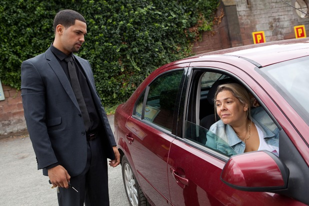 Sonny finds Myra in his car