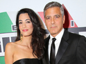 George Clooney shares details of his nuptials during an award speech on Sunday.