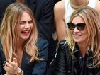 See the models having fun on the front row for Burberry at London Fashion Week.