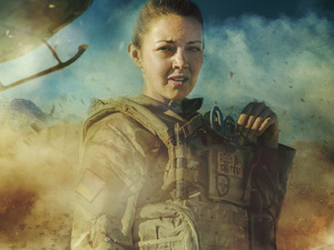 Lacey Turner in BBC One's 'Our Girl'