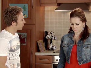 David is furious that he has caught Kylie taking Max's last pills