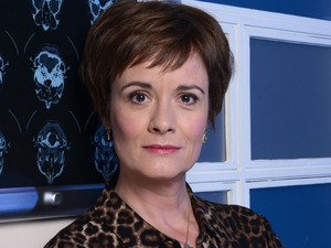 Catherine Russell as Serena Campbell in Holby City