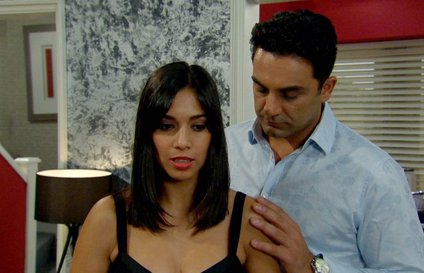 Priya's romantic plans go pear shaped when she arranges a surprise night in for Rakesh