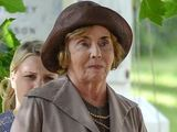 Sue Johnston filming on location for Downton Abbey
