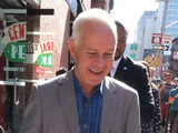 James Michael Tyler (Gunther) arrives at the Central Perk pop-up coffee shop for Friends' 20th anniversiary