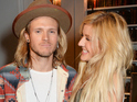 LONDON, ENGLAND - SEPTEMBER 14: Dougie Poynter (L) and Ellie Goulding attend The London 2014 Stella McCartney Green Carpet Collection during London Fashion Week at The Royal British Institute on September 14, 2014 in London, England. (Photo by David M. Benett/Getty Images for Eco-Age/Green Carpet Collection)