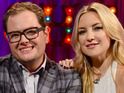 Kate Hudson tells Alan Carr that she and mother Goldie Hawn have seen ghosts.
